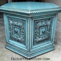 ornate-sea-blue-hexegon-end-table-facelift-furnitre