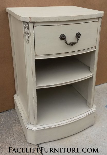 Vintage Nightstand in distressed Oatmeal. From Facelift Furniture's Nightstands collection.