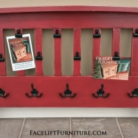 Red Futon Photo Display & Coat Rack