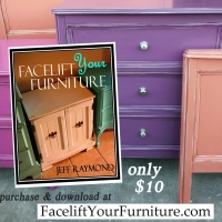 "Refinish your furniture with paint, glaze, and a distressed look!  Create this look on your furniture! Our DIY ebook ""Facelift Your Furniture"" will show you how. Purchase and download for only $10 at www.faceliftyourfurniture.com"