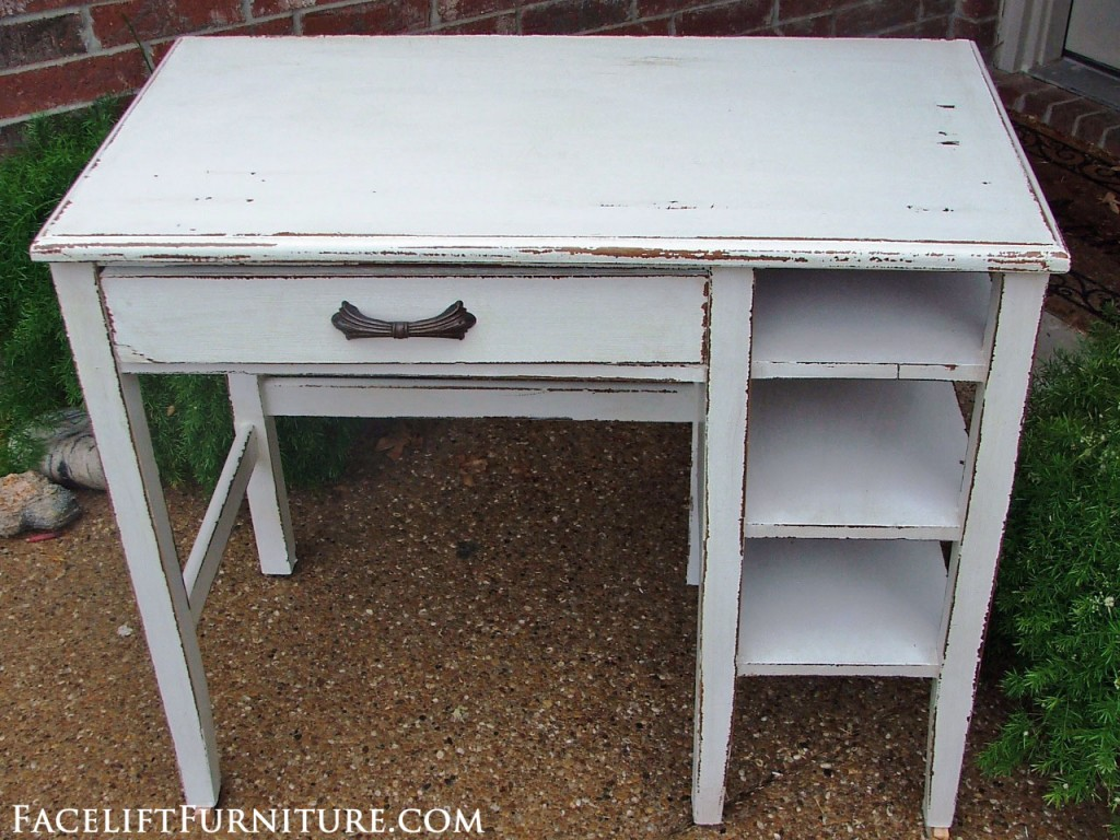 Chippy White Shabby Chic Desk Facelift Furniture