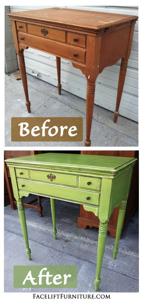 Antique Sewing Table Before After Facelift Furniture - Green Antique Furniture - Best 2000+ Antique Decor Ideas
