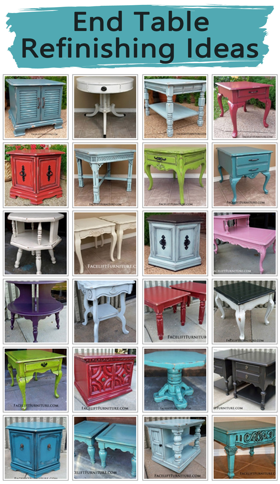 Painted Oak Nightstands