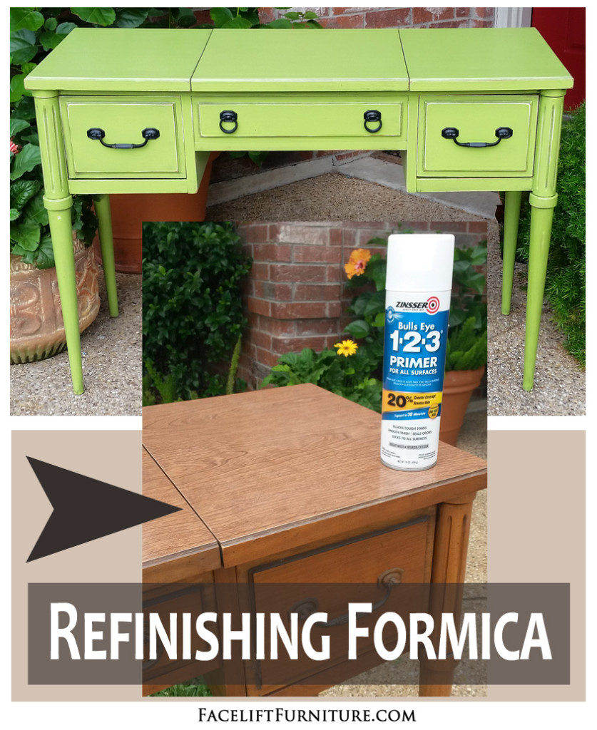 Refinishing Formica Furniture With Paint, Glaze U0026 Distressing | Facelift  Furniture