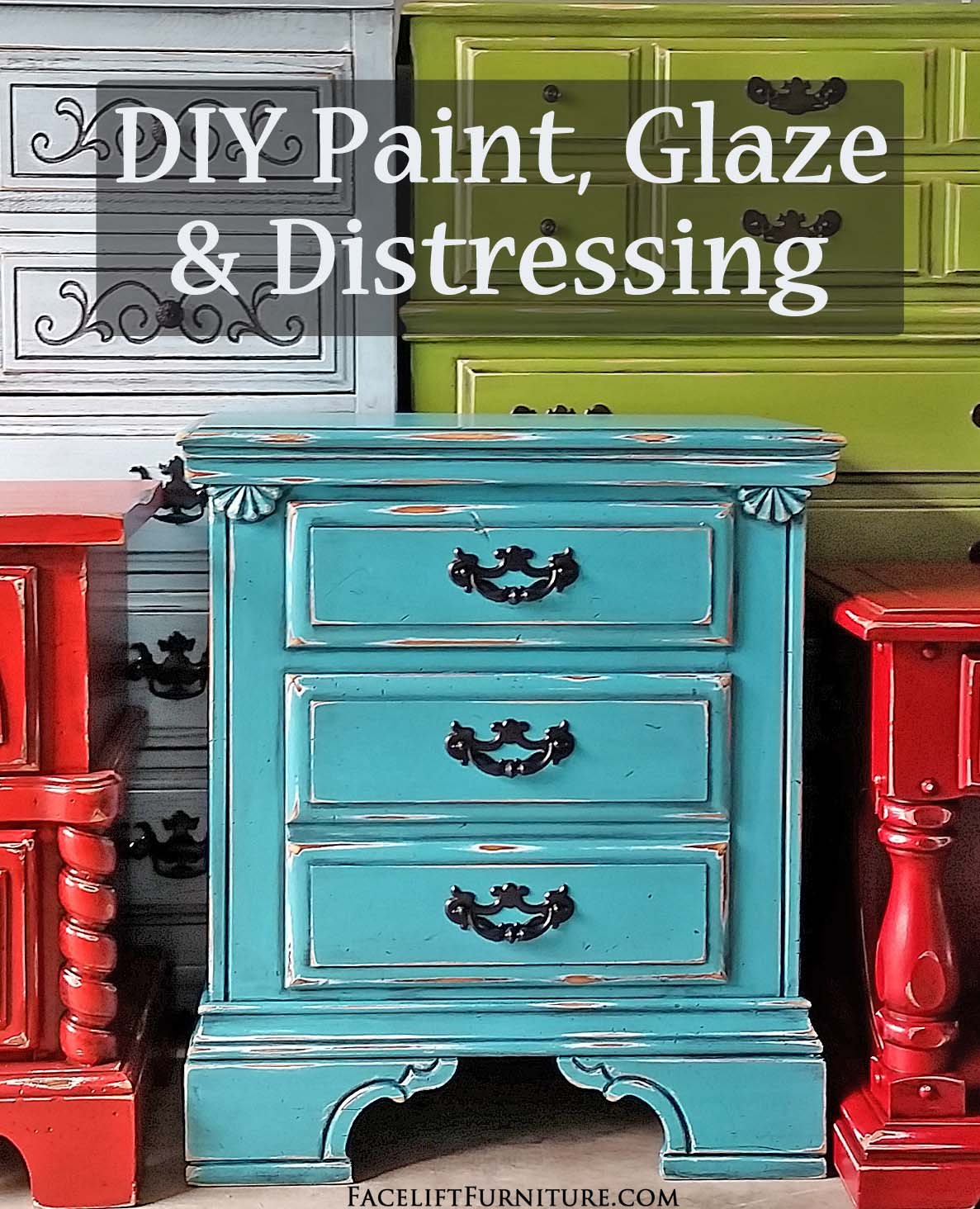 Painting furniture ideas distressed - Diy Paint Glaze Distressing Ideas Inspiration From Facelift Furniture