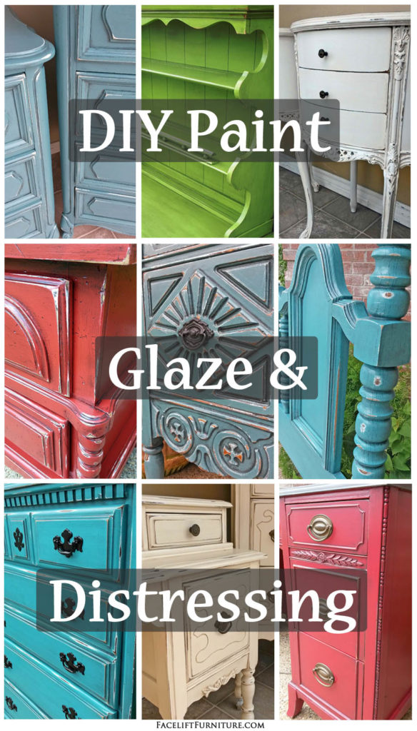 Use paint glaze distressing to transform your furniture How to renovate old furniture