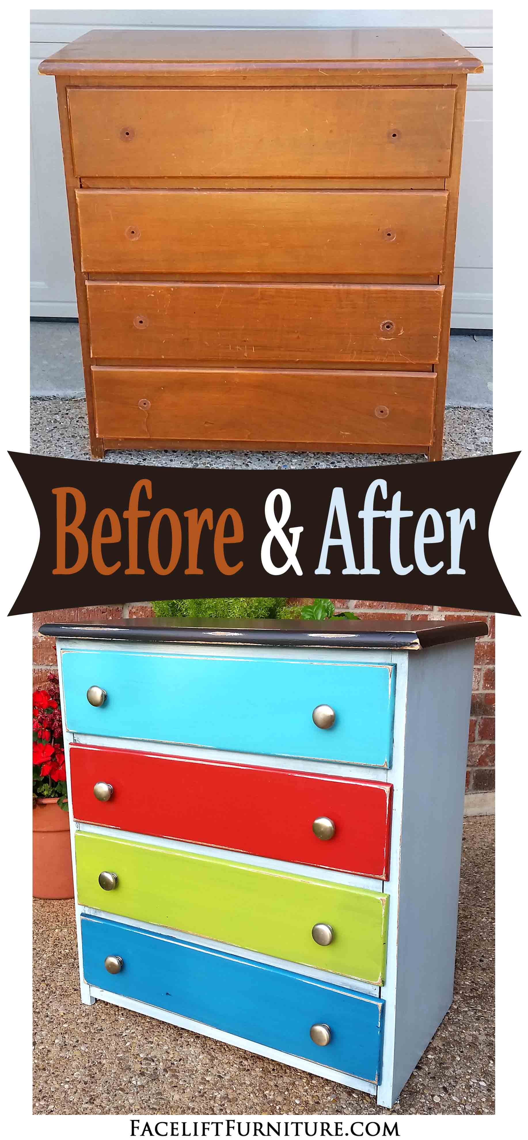 Painting furniture before and after - This Simple Nightstand Was Repurposed Into A Sewing Storage Cabinet For My Daughter Using Paint Glaze And Distressing
